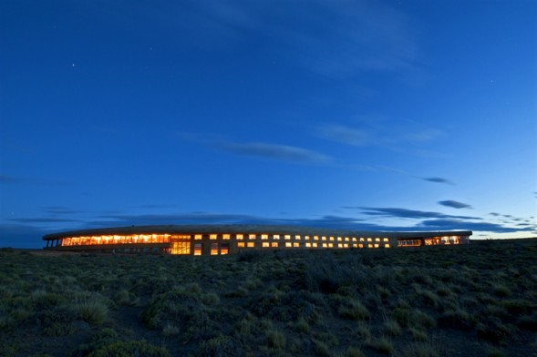 The Tierra Patagonia Hotel & Spa is immersed in the landscape and organises excursions throughout the reserve. PHOTO: TIERRA PATAGONIA HOTEL & SPA