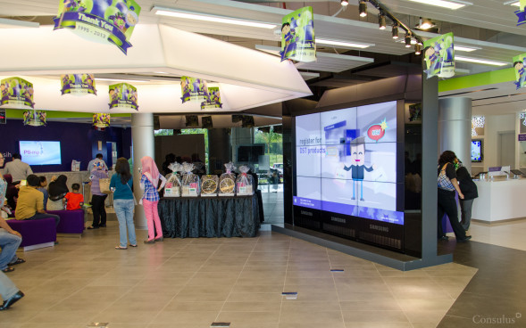 Flexible retail space where launch events or workshops can be held.
