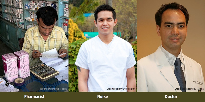 In the eyes of your customer, are you a Pharmacist, a Nurse or a Doctor? PHOTOS: Flickr (Creative Commons).
