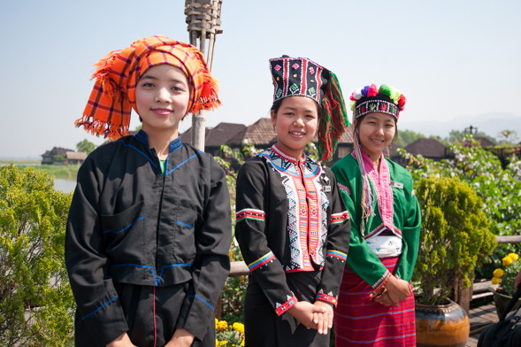 The vibrant and diverse ethnic costumes of tribes in Myanmar