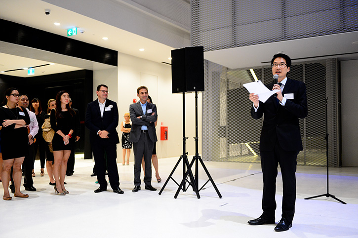 Lawrence Chong, CEO at Consulus, speaks as GOH of the launch event held at the National Design Centre.